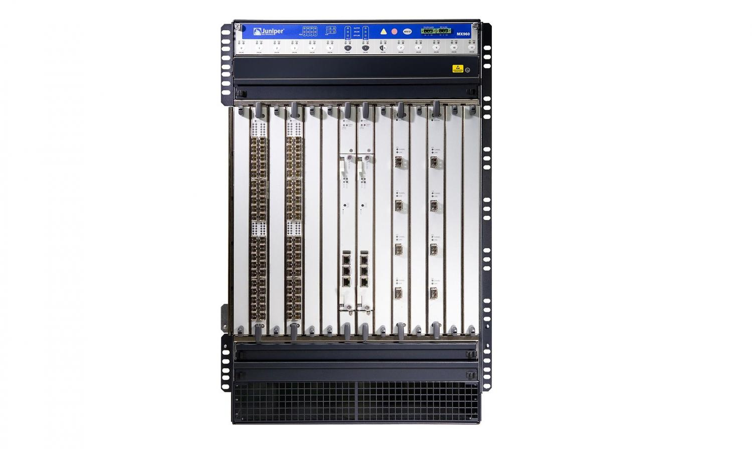 MX960BASE-AC  (2x RE-S-1800X4-16G, 2x SCBE-MX, 1x MPC-3D-16XGE-SFP, 4x PWR-AC, FAN Tray)
