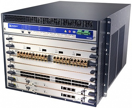 MX480BASE-AC (2x RE-S-2000-4096, 1x SCBE-MX, 1x MPC-3D-16XGE-SFP, 3x PWR-AC, FAN Tray)